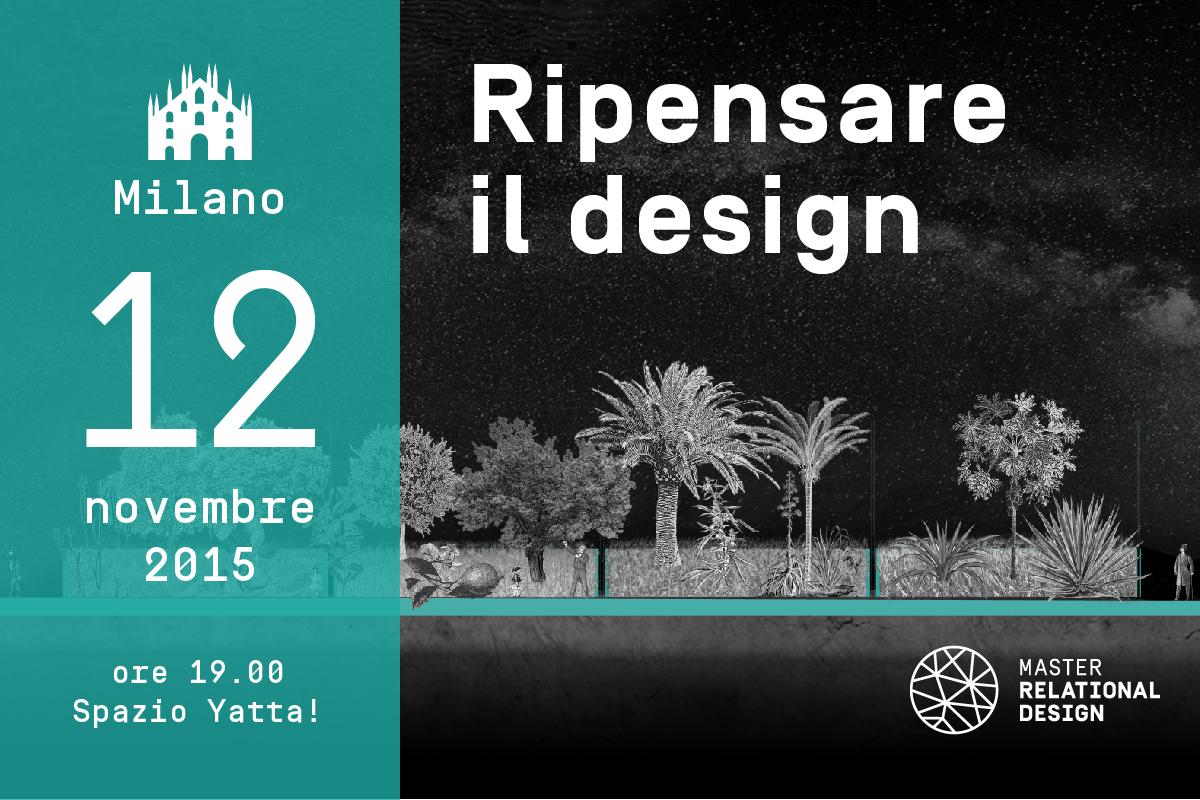 Ripensare il design evento a milano design stefano mirti